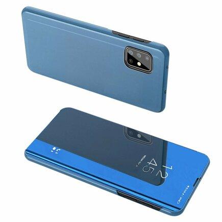 Clear View Case pouzdro s klapkou Samsung Galaxy A71 5G modré