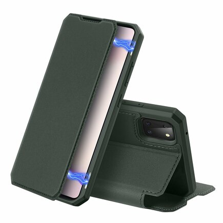 DUX DUCIS Skin X pouzdro s klapkou Samsung Galaxy Note 10 Lite zelené
