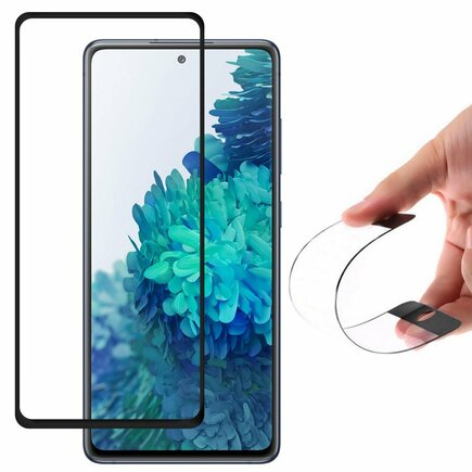 Full Cover Flexi Nano skleněná fólie s rámem Samsung Galaxy S20 FE 5G černá