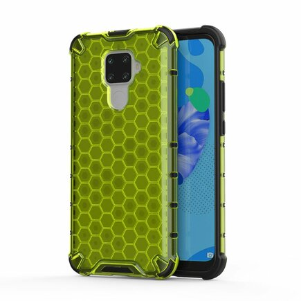 Honeycomb pancéřové pouzdro s gelovým rámem Huawei Mate 30 Lite / Huawei Nova 5i Pro zelené