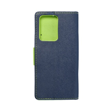 Pouzdro Fancy Book Samsung S20 Ultra / S11 Plus tmavě modré/limetkové