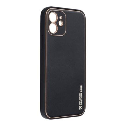 Pouzdro Forcell Leather Case kožené iPhone 13 černé