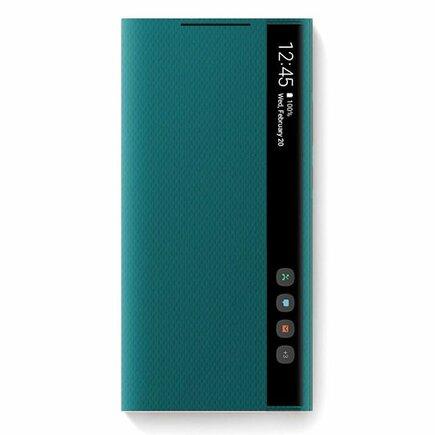Samsung Clear View Standing Cover pouzdro s inteligentní klapkou Samsung Galaxy Note 20 zelené (EF-ZN980CMEGEU)