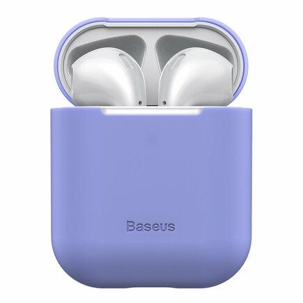Silikonové pouzdro pro sluchátka AirPods 2gen / 1gen fialové (WIAPPOD-BZ05)