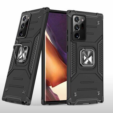 Wozinsky Ring Armor pancéřové hybridní pouzdro + magnetický úchyt Samsung Galaxy Note 20 Ultra černé
