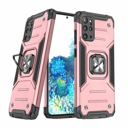 Wozinsky Ring Armor pancéřové hybridní pouzdro + magnetický úchyt Samsung Galaxy S20+ (S20 Plus) růžové