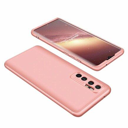 360 Protection Case pouzdro na přední i zadní část telefonu Xiaomi Mi 10 Lite růžové