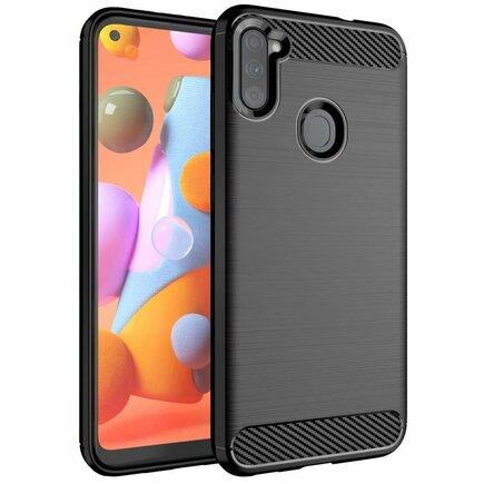 Carbon Case elastické pouzdro Samsung Galaxy A11 / M11 černé