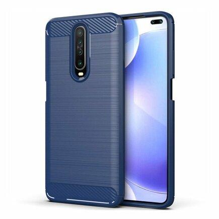 Carbon Case elastické pouzdro Xiaomi Redmi K30 modré