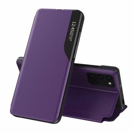Eco Leather View Case elegantní pouzdro s klapkou a funkcí podstavce Xiaomi Poco M3 / Xiaomi Redmi 9T fialové