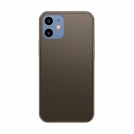 Frosted Glass Case pevné pouzdro s elastickým rámem iPhone 12 mini černé (WIAPIPH54N-WS01)