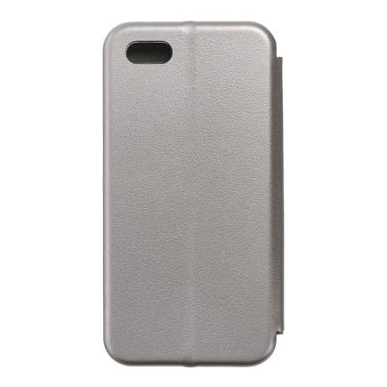Pouzdro Book Elegance iPhone 5 / 5S / SE šedé