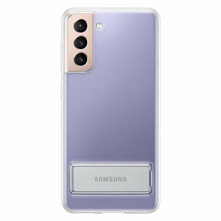 Samsung Clear Standing Cover gelové pouzdro s podstavcem Samsung Galaxy S21 5G průsvitné (EF-JG991CTEGWW)