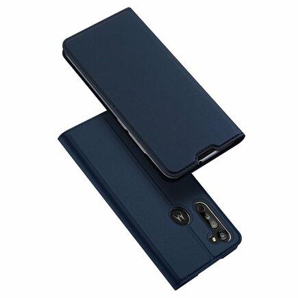 Skin Pro pouzdro s klapkou Motorola Moto G8 modré