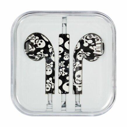 Sluchátka s mikrofonem iPhone iPad iPod černá (vzorek 14)