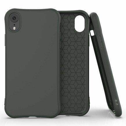 Soft Color Case elastické gelové pouzdro iPhone XR tmavě zelené