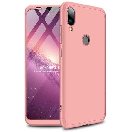 360 Protection Case pouzdro na přední i zadní část telefonu Xiaomi Mi Play růžové