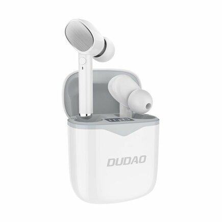 Bezdrátová sluchátka Bluetooth 5.0 TWS bílá (U12 white-grey)