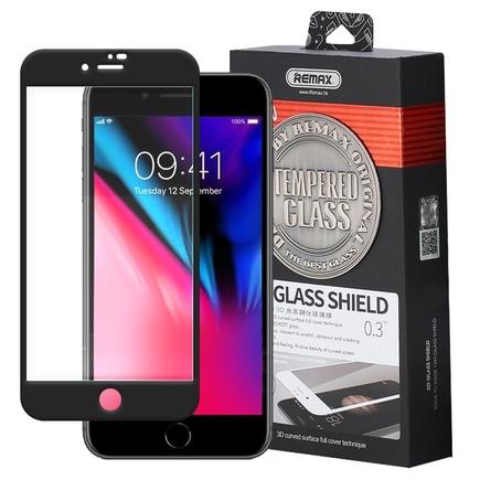 Caesar 3D Tempered Glass tvrzené sklo s rámem přes celý displej iPhone 8 / 7 černé