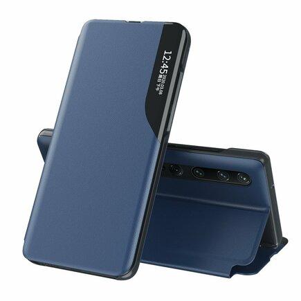 Eco Leather View Case elegantní pouzdro s klapkou a funkcí podstavce Xiaomi Mi 10 Pro / Xiaomi Mi 10 modré