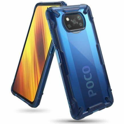 Fusion X pancéřové pouzdro s rámem Xiaomi Poco X3 NFC modré (FXXI0028)