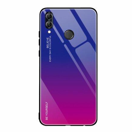 Gradient Glass pouzdro s vrstvou z tvrzeného skla Huawei P Smart 2019 růžově-fialové