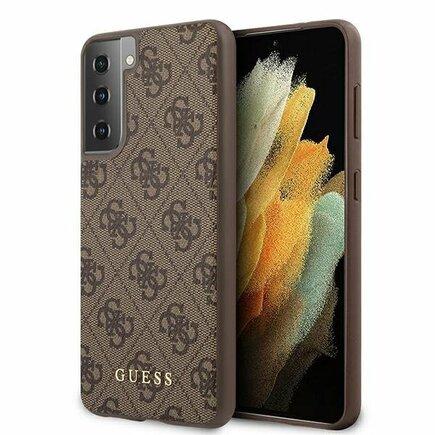 Guess 4G Pouzdro pro Samsung Galaxy S21+ hnědé
