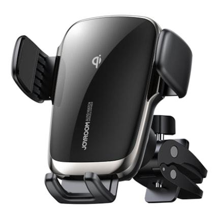 Joyroom bezdrátová nabíječka Qi 15W, automatický elektrický držák do auta pro větrací mřížku, černá (JR-ZS248)