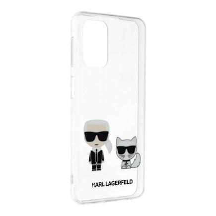 KLHCA32CKTR Karl Lagerfeld PC/TPU Karl & Choupette Kryt pro Samsung Galaxy A32 Transparent