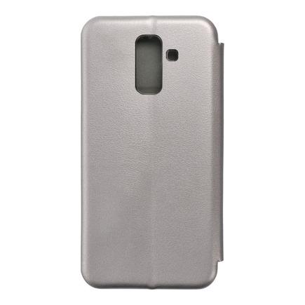 Pouzdro Book Elegance Samsung A6 Plus 2018 šedé