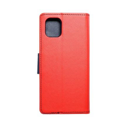 Pouzdro Fancy Book Samsung Note 10 Lite červené/tmavě modré