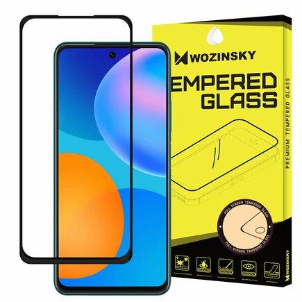 Super odolné tvrzené sklo Full Glue na celý displej s rámem Case Friendly Huawei P Smart 2021 černé
