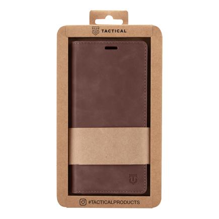 Tactical Xproof PU Kožené Book Pouzdro pro Samsung Galaxy A52 hnědé