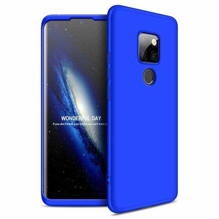 360 Protection Case pouzdro na přední i zadní část telefonu Huawei Mate 30 Lite modré