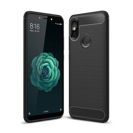 Carbon Case elastické pouzdro Xiaomi Mi A2 / Mi 6X černé
