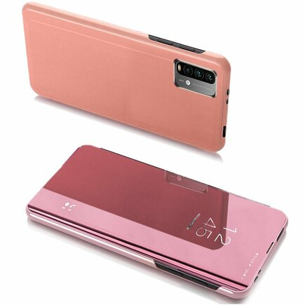 Clear View Case pouzdro s klapkou Xiaomi Poco M3 / Xiaomi Redmi 9T růžové