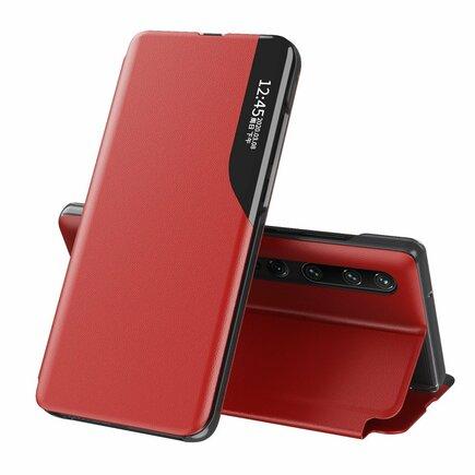 Eco Leather View Case elegantní pouzdro s klapkou a funkcí podstavce Xiaomi Mi 10 Pro / Xiaomi Mi 10 červené