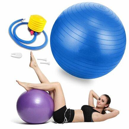 Gymnastický míč 65 cm pro rehabilitační cvičení modrý