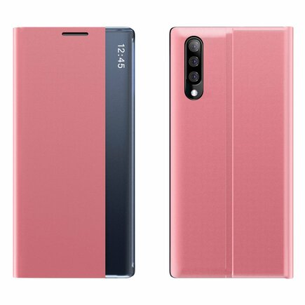 New Sleep Case pouzdro s klapkou s funkcí podstavce Samsung Galaxy A70 růžové