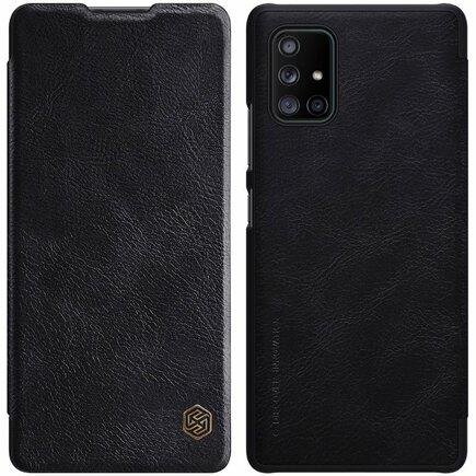 Nillkin Qin kožené pouzdro Samsung Galaxy A71 5G černé