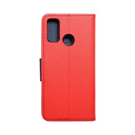 Pouzdro Fancy Book Huawei P Smart 2021 červené/tmavě modré