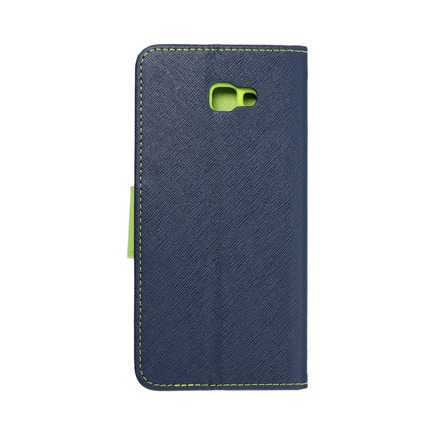 Pouzdro Fancy Book Samsung J4+ ( J4 Plus ) tmavě modré/limetkové