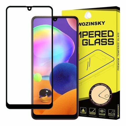 Super odolné tvrzené sklo Full Glue na celý displej s rámem Case Friendly Samsung Galaxy A31 černé