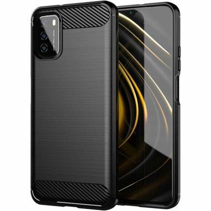 Carbon Case elastické pouzdro Xiaomi Poco M3 / Xiaomi Redmi 9T černé