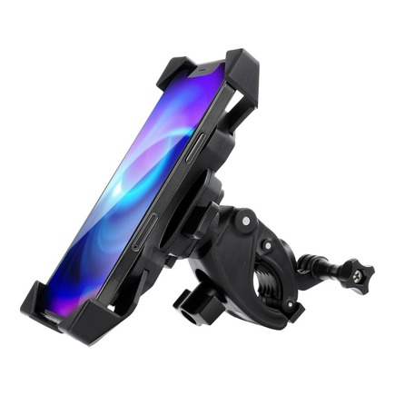 Držák na kolo pro telefon + sportovní kameru BPH černý