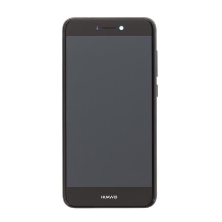 P9 Lite 2017 LCD Display + Dotyková Deska + Přední Kryt černý (Service Pack)