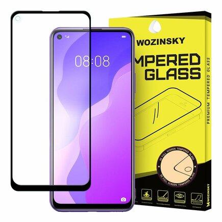 Super odolné tvrzené sklo Full Glue na celý displej s rámem Case Friendly Huawei P40 Lite 5G / Huawei Nova 7 SE černé