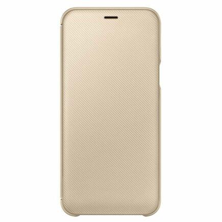 Wallet Cover pouzdro bookcase s kapsičkou na kartu Samsung Galaxy A6 2018 zlaté (EF-WA600CFEG)