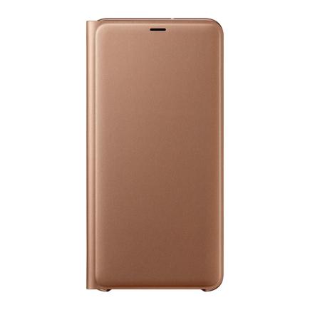 Wallet Cover pouzdro bookcase s kapsou na kartu Samsung Galaxy A7 2018 A750 zlaté (EF-WA750PFEGWW)