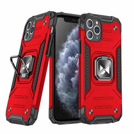 Wozinsky Ring Armor pancéřové hybridní pouzdro + magnetický úchyt iPhone 11 Pro červené